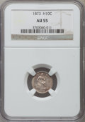 Seated Half Dimes: , 1873 H10C AU55 NGC. NGC Census: (7/111). PCGS Population (10/117). Mintage: 712,000. Numismedia Wsl. Price for problem free...