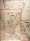 """Books:Maps & Atlases, [Maps] Lot of Three United States Maps: Missouri, Arkansas and Minnesota. 27.25"""" x 17.25"""" in portrait and landscape formats...."""