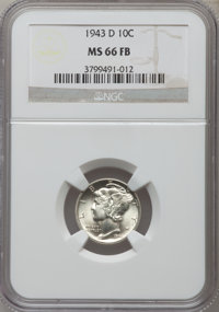 1943-D 10C MS66 Full Bands NGC. NGC Census: (2071/610). PCGS Population (3720/672). Mintage: 71,949,000. Numismedia Wsl...