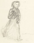 Mainstream Illustration, GARTH WILLIAMS (American, 1912-1996). Laura Ingalls Wilder,preliminary studies for The Franklin Mint (pair), circa 198...(Total: 2 Items)