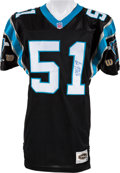 Football Collectibles:Uniforms, Mid 1990's Sam Mills Twice Signed Carolina Panthers Jersey....