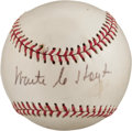 Autographs:Baseballs, Circa 1970 Waite Hoyt Single Signed Baseball. ...