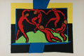 """Books:Prints & Leaves, Henri Matisse (1869-1954), artist. Color Lithograph Reproduction ofMatisse's La Danse. 21"""" x 14"""". Removed from ..."""