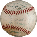 Baseball Collectibles:Balls, 1954 New York Giants Team Signed Baseball....