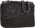 Luxury Accessories:Bags, Chanel Black Lambskin & Patent Leather Brooklyn Flap ShoulderBag. ...