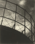 Photographs:20th Century, HORACE BRISTOL (American, 1909-1997). Untitled (Silhouette ofTanks and Clouds), 1938. Gelatin silver. 13-1/4 x 10-1/2 i...