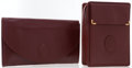 Luxury Accessories:Accessories, Cartier Set of Two; Burgundy Leather Envelope Clutch & BurgundyLeather Box Clutch . ... (Total: 2 )