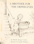 Mainstream Illustration, GARTH WILLIAMS (American, 1912-1996). A Brother for theOrphelines, original cover artwork, 1959. Pen and appliqués onh... (Total: 3 Items)