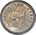 Seated Quarters, 1865-S 25C MS66+ PCGS. CAC....
