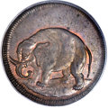 Colonials, (1694) TOKEN London Elephant Token, Thick Planchet MS66 Red andBrown PCGS. CAC. Hodder 2-B, W-12040, R.2....