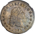Early Dollars, 1795 $1 Flowing Hair, Three Leaves -- Obverse Scratched -- NGCDetails. AU. B-6, BB-25, R.3....