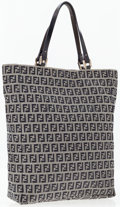 Luxury Accessories:Bags, Fendi Blue Zucca Monogram Canvas Tote Bag . ...
