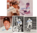 Baseball Collectibles:Photos, 1970's Mickey Mantle Signed Photographs Lot of 5. ...