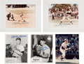 Baseball Collectibles:Photos, 1980's Mickey Mantle Signed Photographs Lot of 5. ...