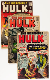 The Incredible Hulk #2, 5, and 6 UK Editions Group (Marvel, 1962-63).... (Total: 3 Comic Books)