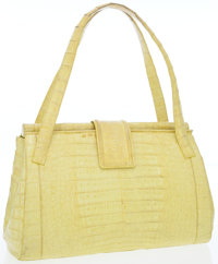 Nancy Gonzalez Yellow Crocodile Day Bag