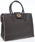 Luxury Accessories:Bags, Yves Saint Laurent Charcoal Gray Muse Two Cabas Tote Bag. ...