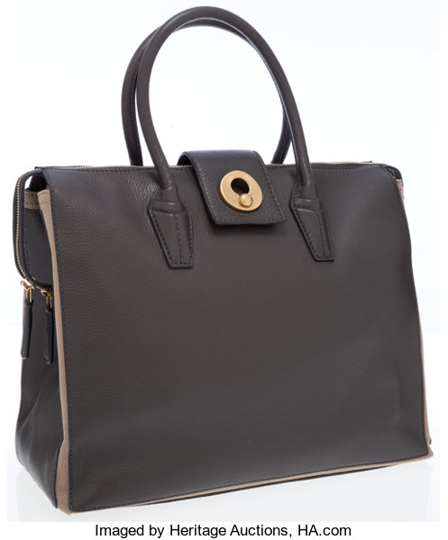 c037c5ea01 Yves Saint Laurent Charcoal Gray Muse Two Cabas Tote Bag. ...