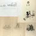 Books:Prints & Leaves, Garth Williams (1912-1996), illustrator. Lot of PreliminaryDrawings for Laura Ingalls Wilder's Little House Books...