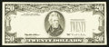 Error Notes:Obstruction Errors, Fr. 2081-? $20 1995 Federal Reserve Note. About Uncirculated.. ...
