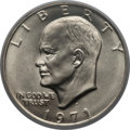 Eisenhower Dollars: , 1971-D $1 MS66+ PCGS. PCGS Population (888/19). NGC Census: (595/41). Mintage: 68,587,424. Numismedia Wsl. Price for proble...