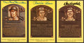 Baseball Collectibles:Others, Snider, Reese and Drysdale Signed Hall of Fame Plaque Postcards Lotof 3....