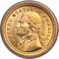 Commemorative Gold, 1903 G$1 Louisiana Purchase/Jefferson MS64 PCGS. CAC. PCGSPopulation (928/1325). NGC Census: (590/950). Mintage: 17,500. N...