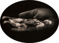 Photographs, JERRY UELSMANN (American, b. 1934). Untitled (Woman, Hand, Pod), 1972. Gelatin silver. 6-7/8 x 9-3/8 inches (17.5 x 23.8...