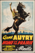 """Movie Posters:Western, Home on the Prairie (Republic, 1939). One Sheet (27"""" X 41""""). Western.. ..."""