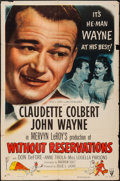 """Movie Posters:Comedy, Without Reservations (RKO, R-1953). One Sheet (27"""" X 41""""). Comedy.. ..."""