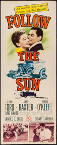 "Movie Posters:Sports, Follow the Sun (20th Century Fox, 1951). Insert (14"" X 36""). Sports.. ..."