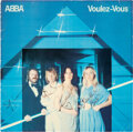 Music Memorabilia:Autographs and Signed Items, ABBA Signed Voulez-Vous Swedish Record Album Cover (PolarPOLS 292, 1979). ...