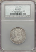 Bust Quarters, 1822 25C -- Improperly Cleaned -- NCS. Genuine. NGC Census: (7/42).PCGS Population (8/35). Mintage: 64,080. Numismedia Wsl...