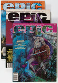 Magazines:Science-Fiction, Epic Illustrated Box Lot (Marvel, 1981-83) Condition: AverageNM-....