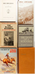 Books:Americana & American History, Group of Six Books Related to Western Americana. Variouspublishers, primarily mid twentieth century. Various editions.Octa... (Total: 6 Items)