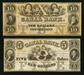 Obsoletes By State:Louisiana, New Orleans, LA - Canal Bank $5 18__ G12a Remainder and $10 18__ G22a Remainder. ... (Total: 2 notes)