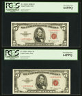 Small Size:Legal Tender Notes, Fr. 1534* $5 1953B Legal Tender Note. PCGS Apparent Very Choice New 64PPQ. Fr. 1535* $5 1953C Legal Tender Note. PCGS Very... (Total: 2 notes)