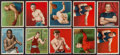Boxing Cards:General, 1910 T218 Mecca/Hassan Boxing Complete Set (62) Plus BrandVariations. ...