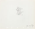 Animation Art:Production Drawing, Pinocchio Jiminy Cricket Production Drawing Animation Art(Walt Disney, 1940)....