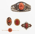 Estate Jewelry:Brooches - Pins, Coral, Gold Jewelry Lot. ... (Total: 5 Items)