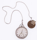Timepieces:Pocket (post 1900), Elgin 21 Jewel 14k Gold Pocket Watch With American Legion Fob. ...