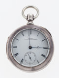 Timepieces:Pocket (pre 1900) , Illinois .800 Silver 17 Jewel Pair Case Key Wind Pocket Watch. ...