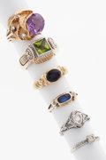 Estate Jewelry:Rings, Multi-Stone, Diamond, Gold Rings. ... (Total: 6 Items)