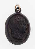 Estate Jewelry:Pendants and Lockets, Victorian, Shell Carved Cameo Pendant. ...