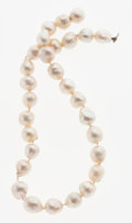 Estate Jewelry:Pearls, Fresh Water Pearl, White Gold Necklace. ...