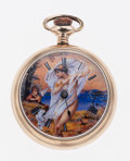 Timepieces:Pocket (post 1900), Waltham Custom Fancy Color Dial Pocket Watch. ...
