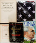 Books:Americana & American History, [U.S. History]. Group of Five Items related to American History.Includes an American Flag. Various publishers, mid to late ...(Total: 5 Items)