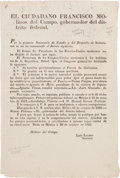 Miscellaneous:Broadside, Broadside Printing of an Act Opening Galveston as a Free Port....