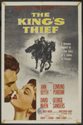 "Movie Posters:Adventure, The King's Thief (MGM, 1955). One Sheet (27"" X 41""). Adventure. ..."