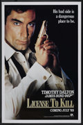 "Movie Posters:James Bond, Licence to Kill (United Artists, 1989). One Sheet (27"" X 41"")Advance. James Bond. ..."